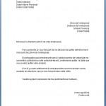 Lettre de démission cdi avec préavis réduit