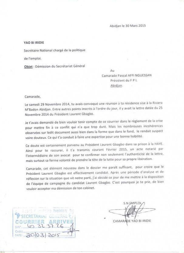 lettre de demission transport
