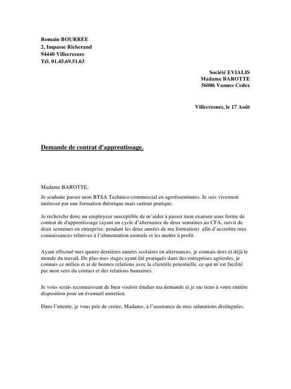 lettre de motivation technico commercial