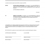 Exemple renon bail