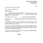 Exemple de lettre de bail