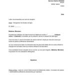 Modele lettre resiliation bail