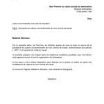 Exemple lettre fin de contrat