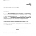 Résiliation bail lettre