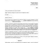 Exemple lettre de résiliation