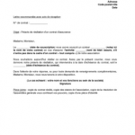 Lettre gratuite résiliation assurance