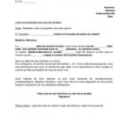 Exemple résiliation contrat assurance