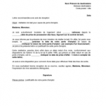 Exemple de lettre de fin de bail