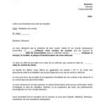 Exemple de lettre de résiliation de contrat d assurance