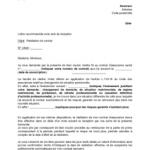 Modele de courrier de résiliation de contrat d assurance