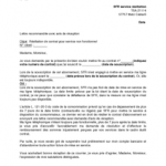 Courrier type résiliation contrat
