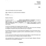 Lettre de résiliation du contrat