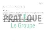 Courrier annulation contrat