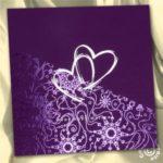 Faire part mariage violet et blanc