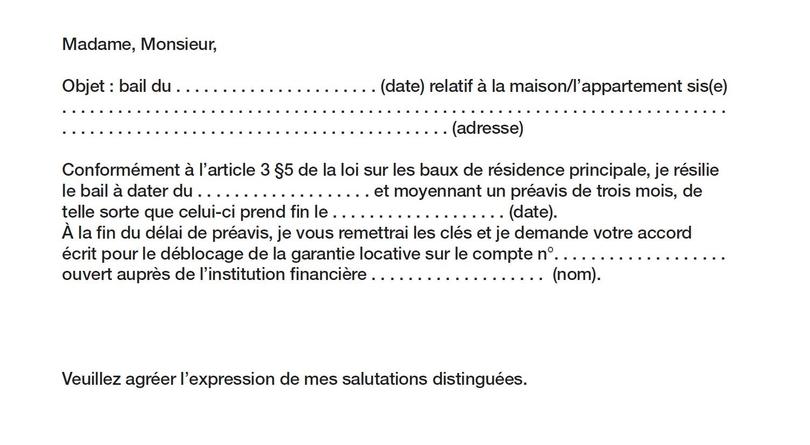 lettre de renon bail location