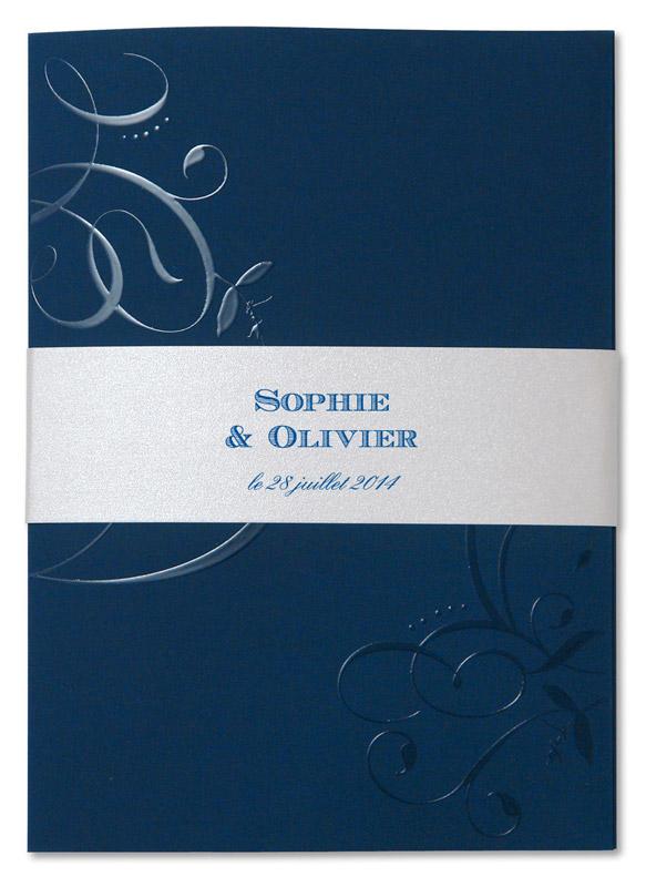 faire part de mariage bleu