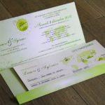 Billet invitation mariage