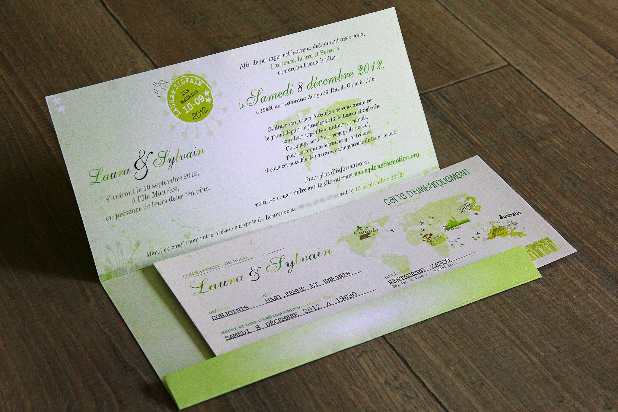 Billet invitation mariage mod le de lettre - Salon creation et savoir faire billet gratuit ...