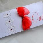 Faire part de mariage rouge et blanc
