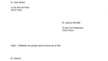 D lai de pr avis pour quitter un logement mod le de lettre - Modele de lettre pour louer un garage ...