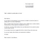 Exemple de lettre de préavis de 3 mois