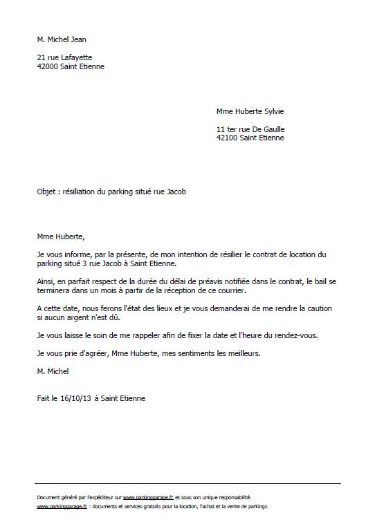 mod u00e8le de lettre pour rendre un appartement