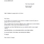 Exemple de lettre de préavis de 1 mois