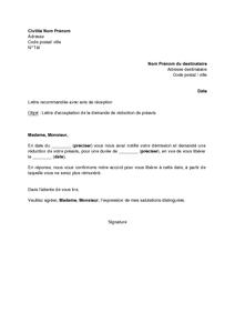 lettre de demission appartement Lettre de préavis appartement   Modèle de lettre lettre de demission appartement