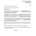 Exemple lettre pour quitter un logement