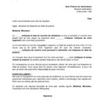 Modèle lettre de préavis logement 3 mois