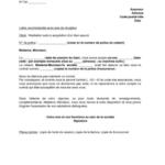 Lettre résiliation de contrat de location