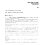 Exemple lettre résiliation