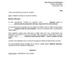 Modèle de lettre de résiliation