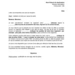 Model lettre préavis bail