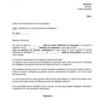 Lettre de résiliation de contrat de location