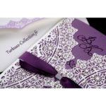 Faire part mariage blanc et violet