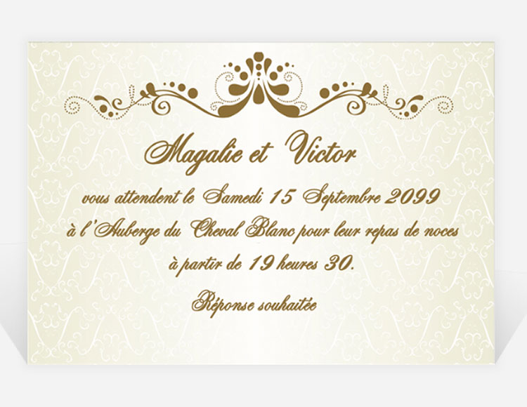 invitation  u00e0 un mariage