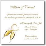 Modele carte de mariage invitation