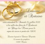 Carte de invitation de mariage
