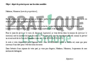 Lettre Pr Avis Archives Mod Le De Lettre