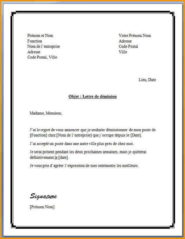 Lettre de préavis logement 3 mois - Modèle de lettre