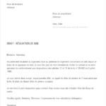 Lettre de résiliation contrat de location