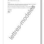 Exemple de lettre de préavis d un mois