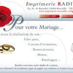 Carte de mariage invitation