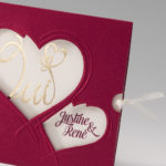 Faire part mariage avec coeur