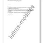 Lettre résiliation contrat de location