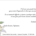 Modele carte de condoleance