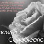 Message de sympathie pour un deuil