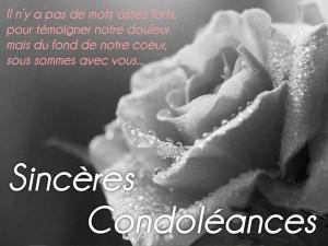 Message de condoléances collègue