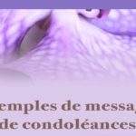 Message condoléances court